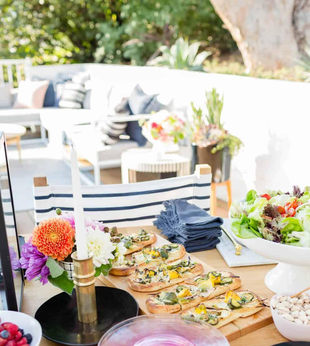 Summer Party_Outdoor Entertaining_Emily Henderson_Blackbox Wines_Flowers_Casual_Pink_Orange_Modern_Organic_Boho_Black_Grey_Blue_19