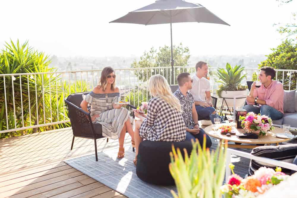 Summer Party_Outdoor Entertaining_Emily Henderson_Blackbox Wines_Flowers_Casual_Pink_Orange_Modern_Organic_Boho_Black_Grey_Blue_31