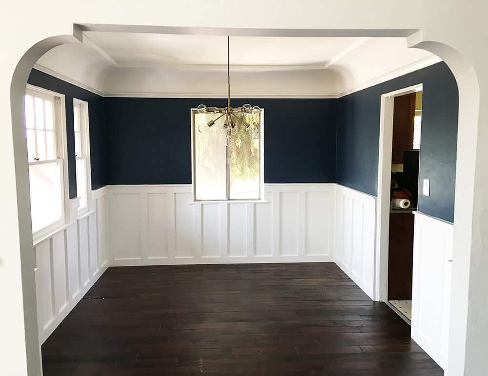 Syliva_Dining Room_Emily Henderson_Blue_Dining Room_Empty_Paneling