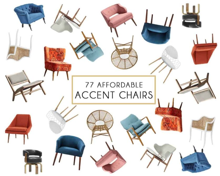 Affordable Accent Chair Roundup Header Emily Henderson Design