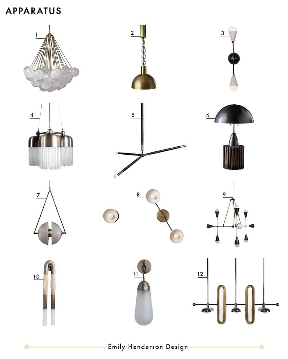 Apparatus Emily Henderson Design Lighting Roundup