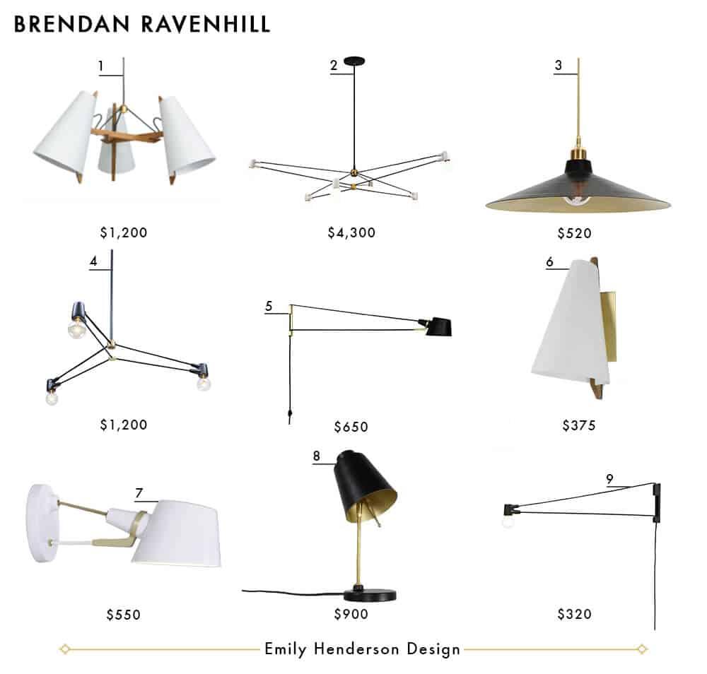 Brendan Ravenhill Emily Henderson Design Lighting Roundup