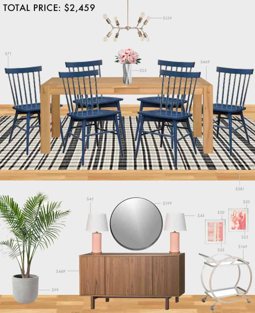 Budget-Dining-Room_Emily-Henderson_Roundup_Affordable_MidCentury_Eclectic_Blue_Pink_2.5K