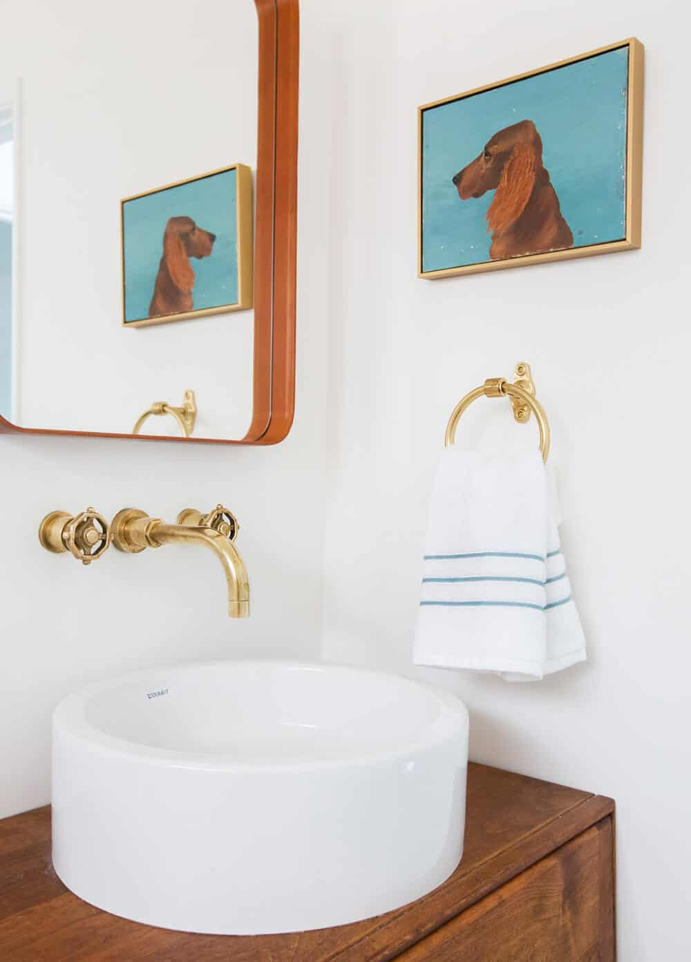Emily Henderson Guest Bathroom Redesign Reveal After Photos Tile Mid Century-309