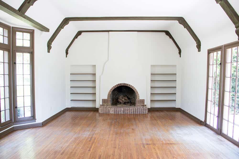 Emily Henderson_Renovation_Home Imporovement_Spanish_Tudor_Living Room_Before_6