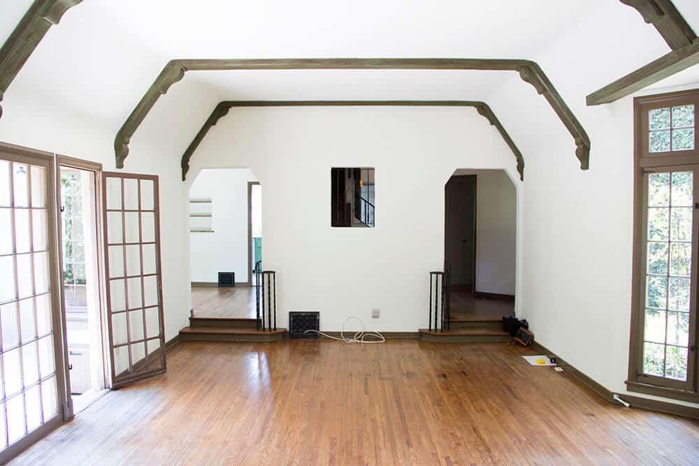 Emily Henderson_Renovation_Home Imporovement_Spanish_Tudor_Living Room_Before_8