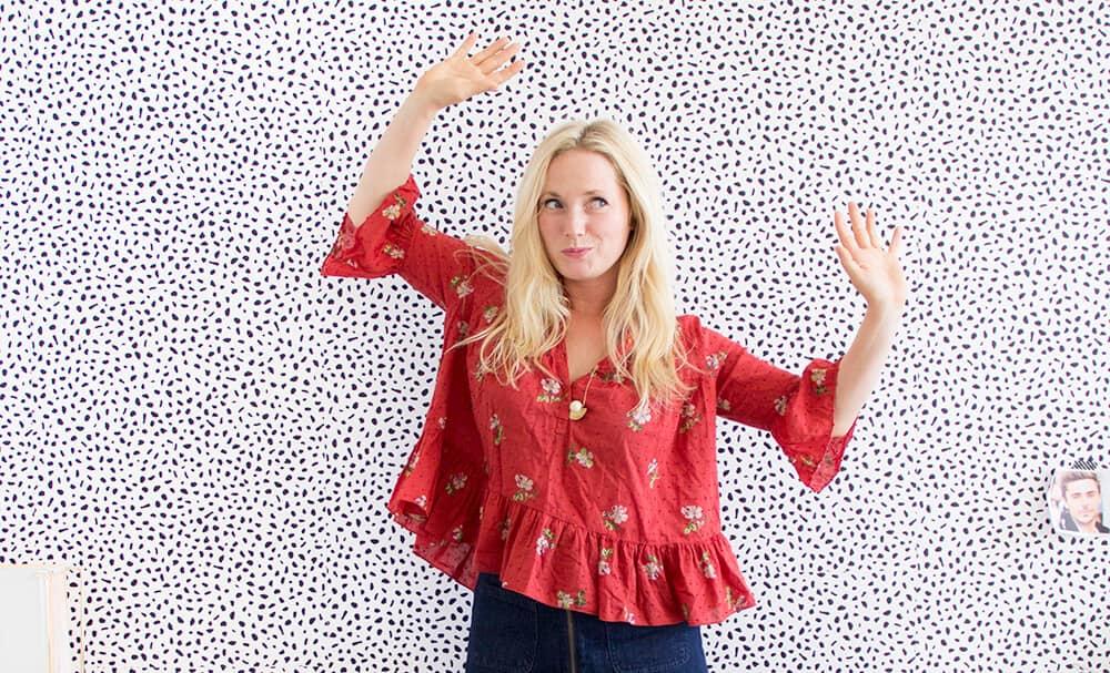 Emily Henderson_Womens Clothing_Fashion_Ruffle Tops_red ruffle