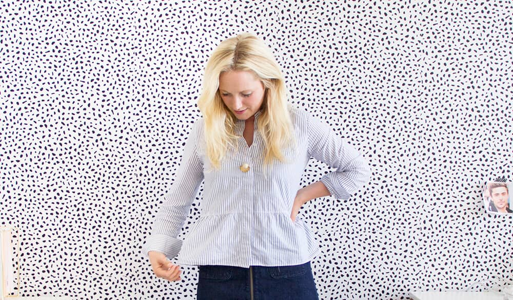 Emily Henderson_Womens Clothing_Fashion_Ruffle Tops_striped ruffle