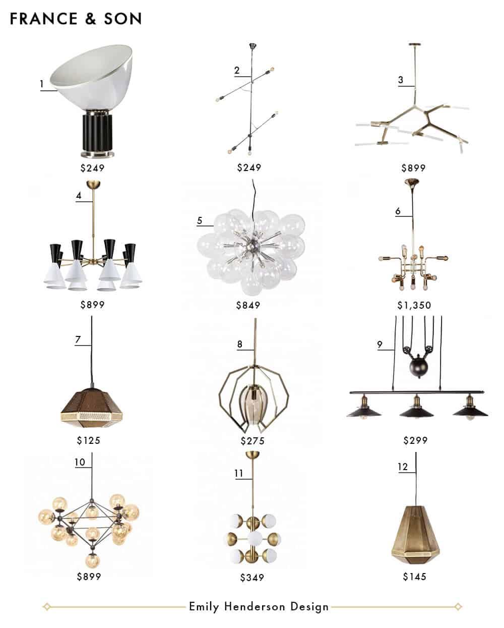 France and Son Emily Henderson Design Lighting Roundup