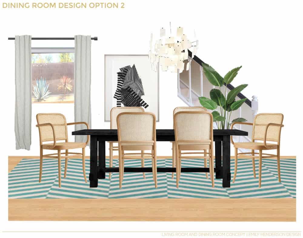JaimeDerringer_EmilyHenderson_Dining_Room_Makeover_OptionTwo