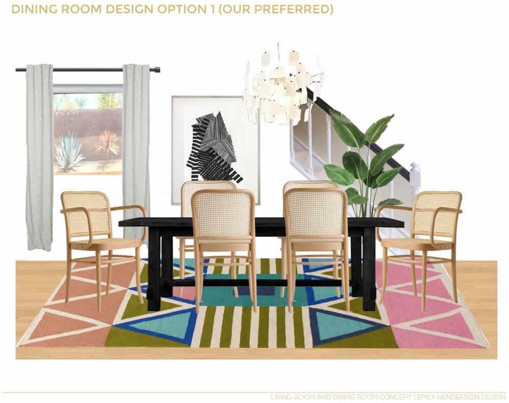 JaimeDerringer_EmilyHenderson_Dining_Room_Makeover_Option_One