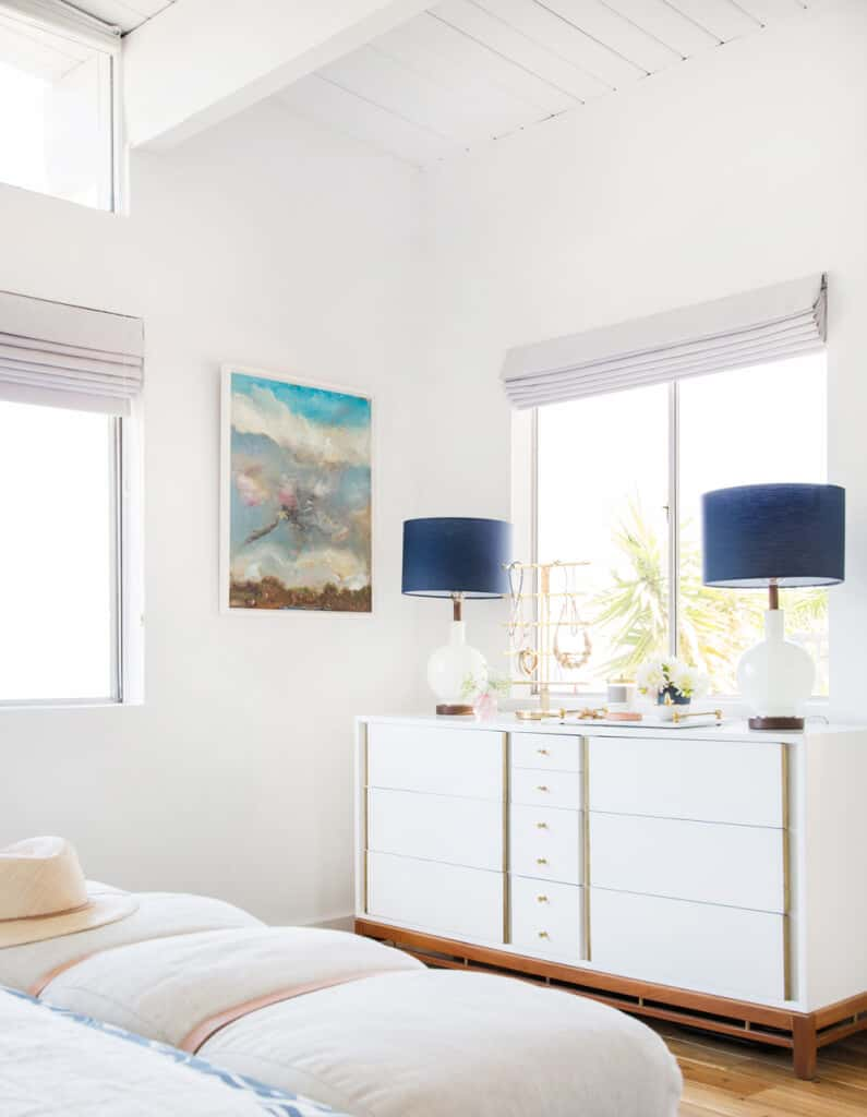 Master Bedroom Reveal Emily Henderson Design White Pink Blue and Gold-027