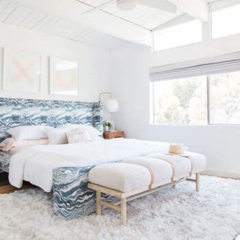 Master Bedroom Reveal Emily Henderson Design White Pink Blue and Gold-135