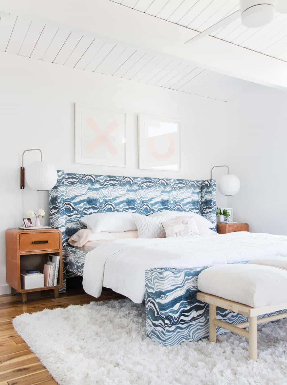 Master Bedroom Reveal Emily Henderson Design White Pink Blue and Gold-139