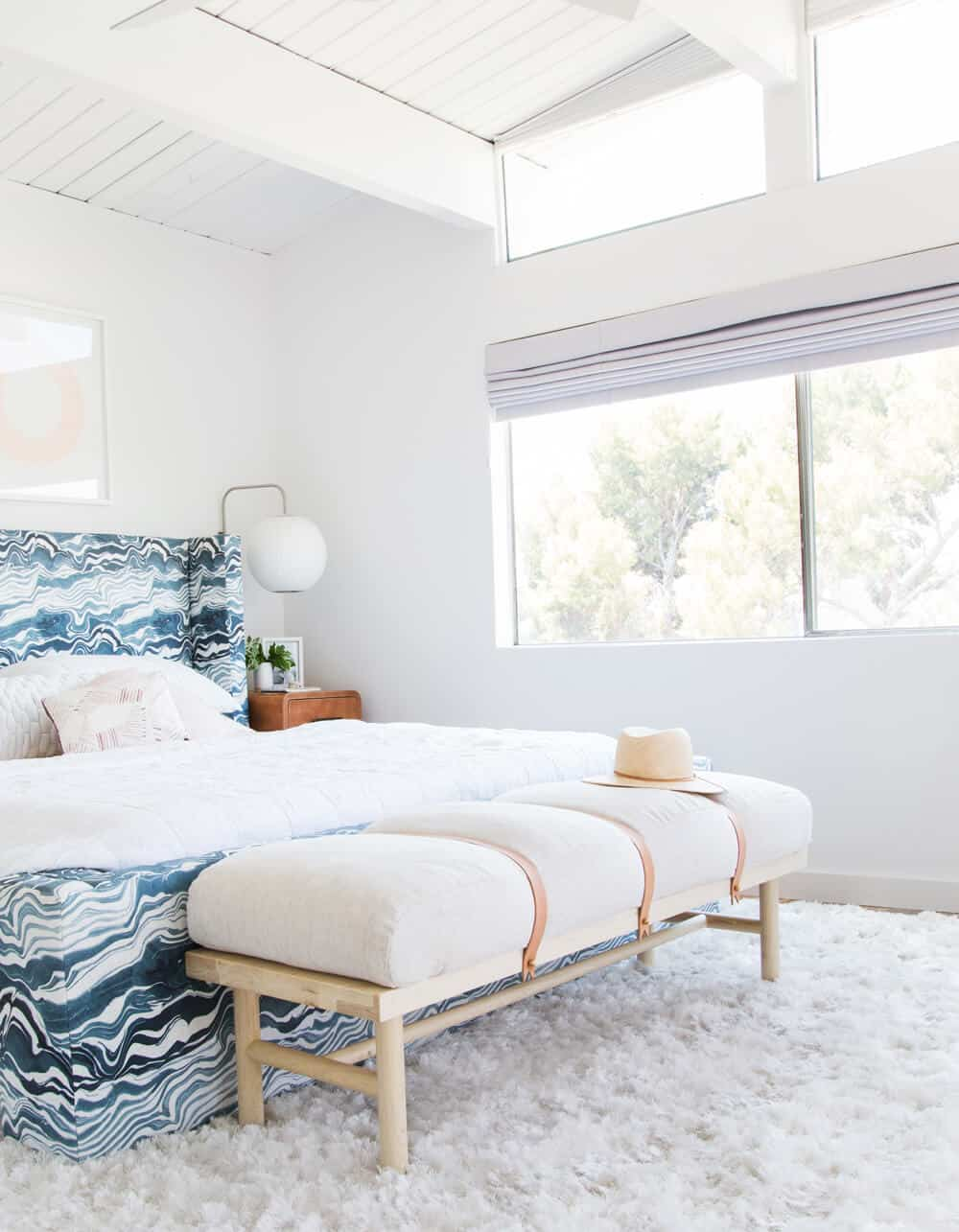 Master Bedroom Reveal Emily Henderson Design White Pink Blue and Gold-140