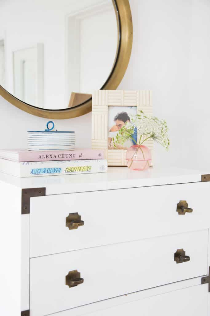 Master Bedroom Reveal Emily Henderson Design White Pink Blue and Gold-221