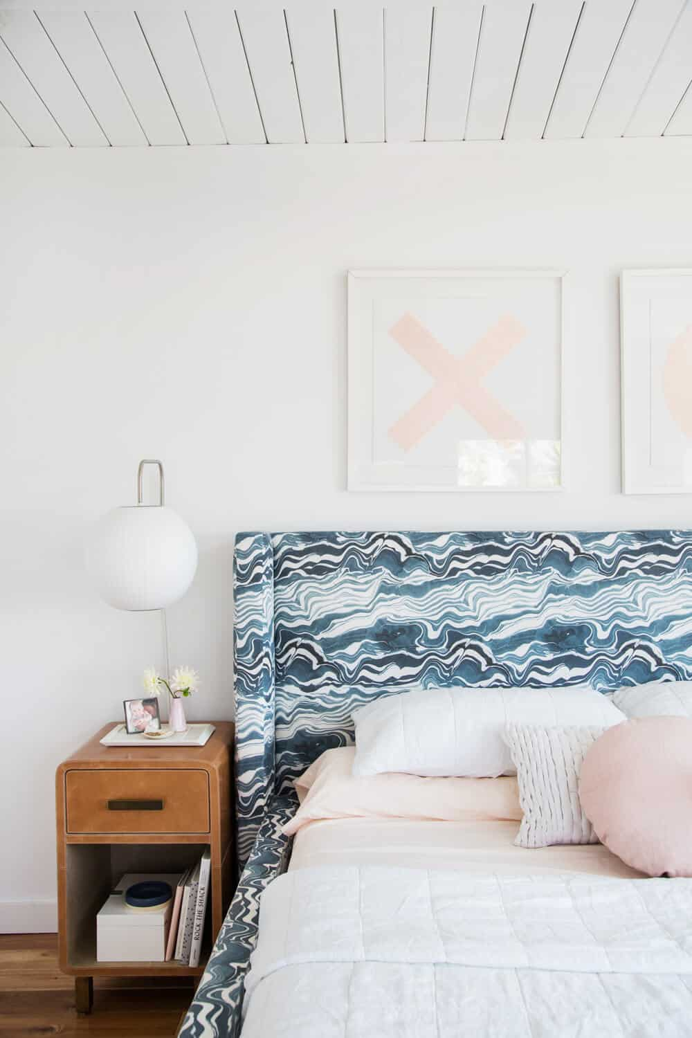 Master Bedroom Reveal Emily Henderson Design White Pink Blue and Gold-234