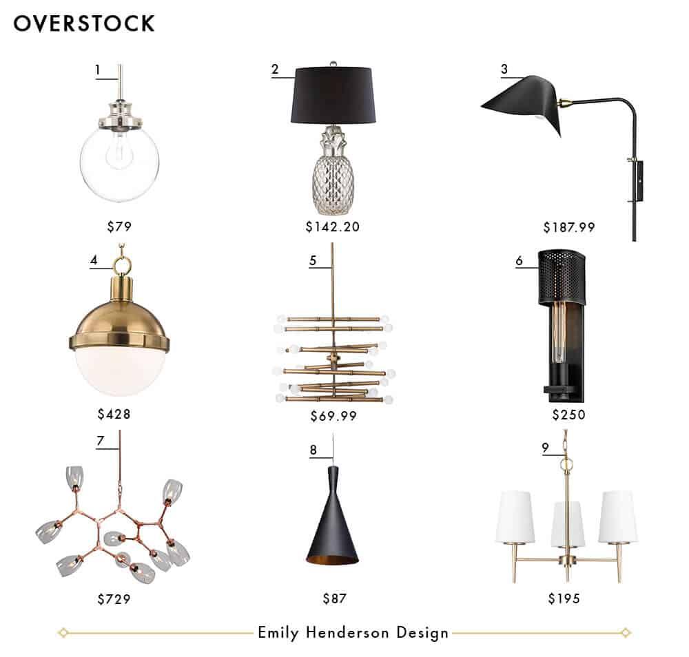 Overstock Emily Henderson Design Lighting Roundup
