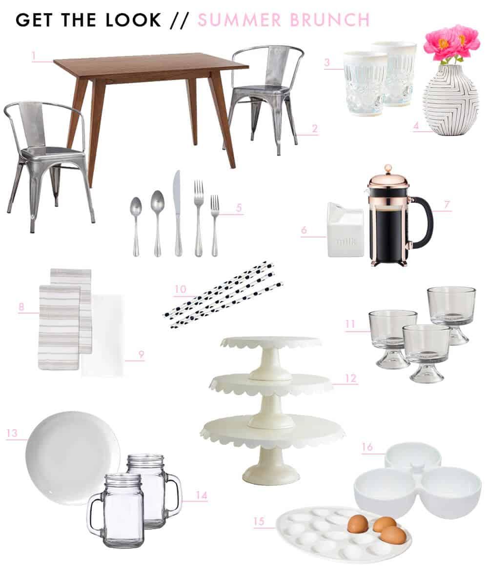 Summer Brunch Get The Look Emily Henderson Design Outdoor Dining Hosting