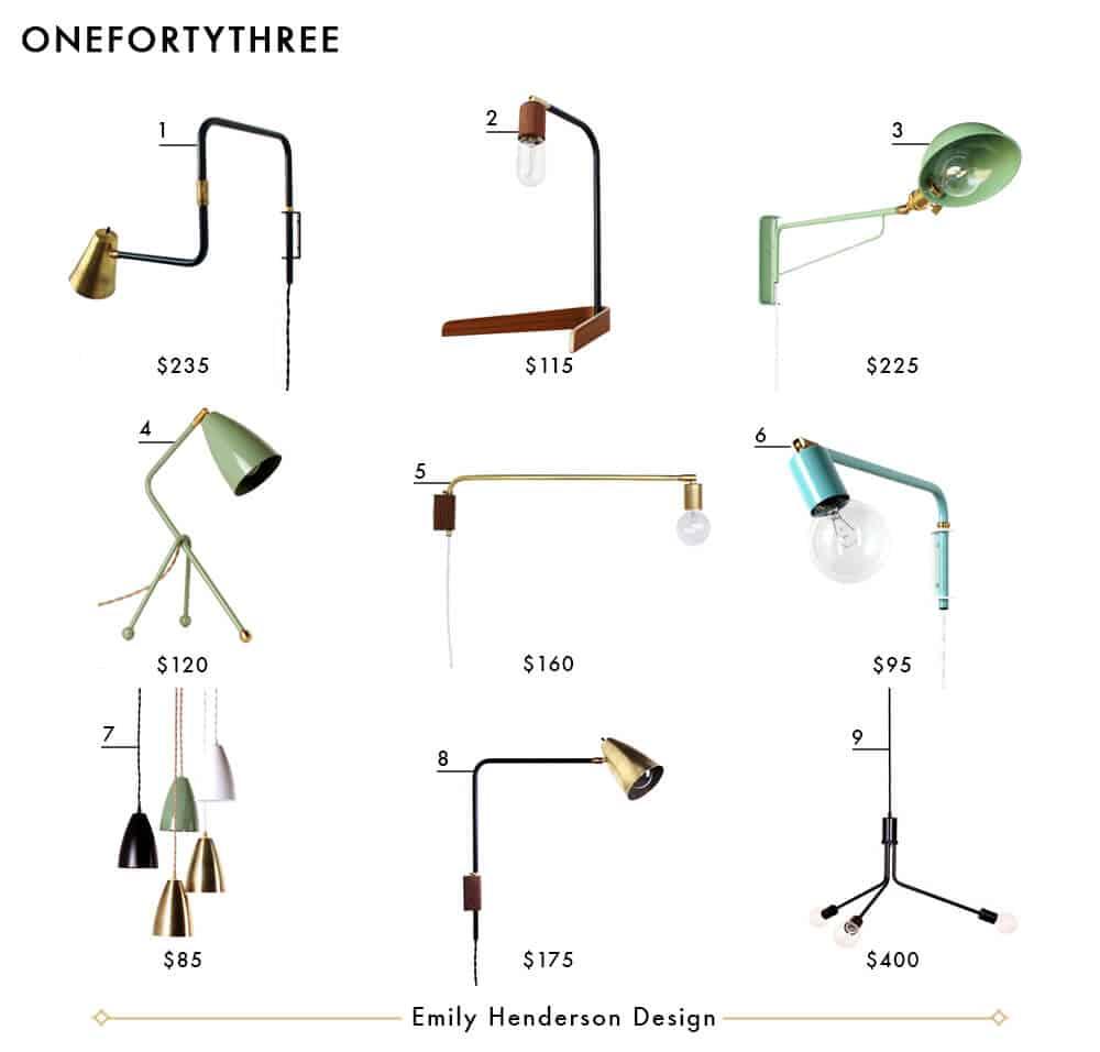 onefortythree Emily Henderson Design Lighting Roundup