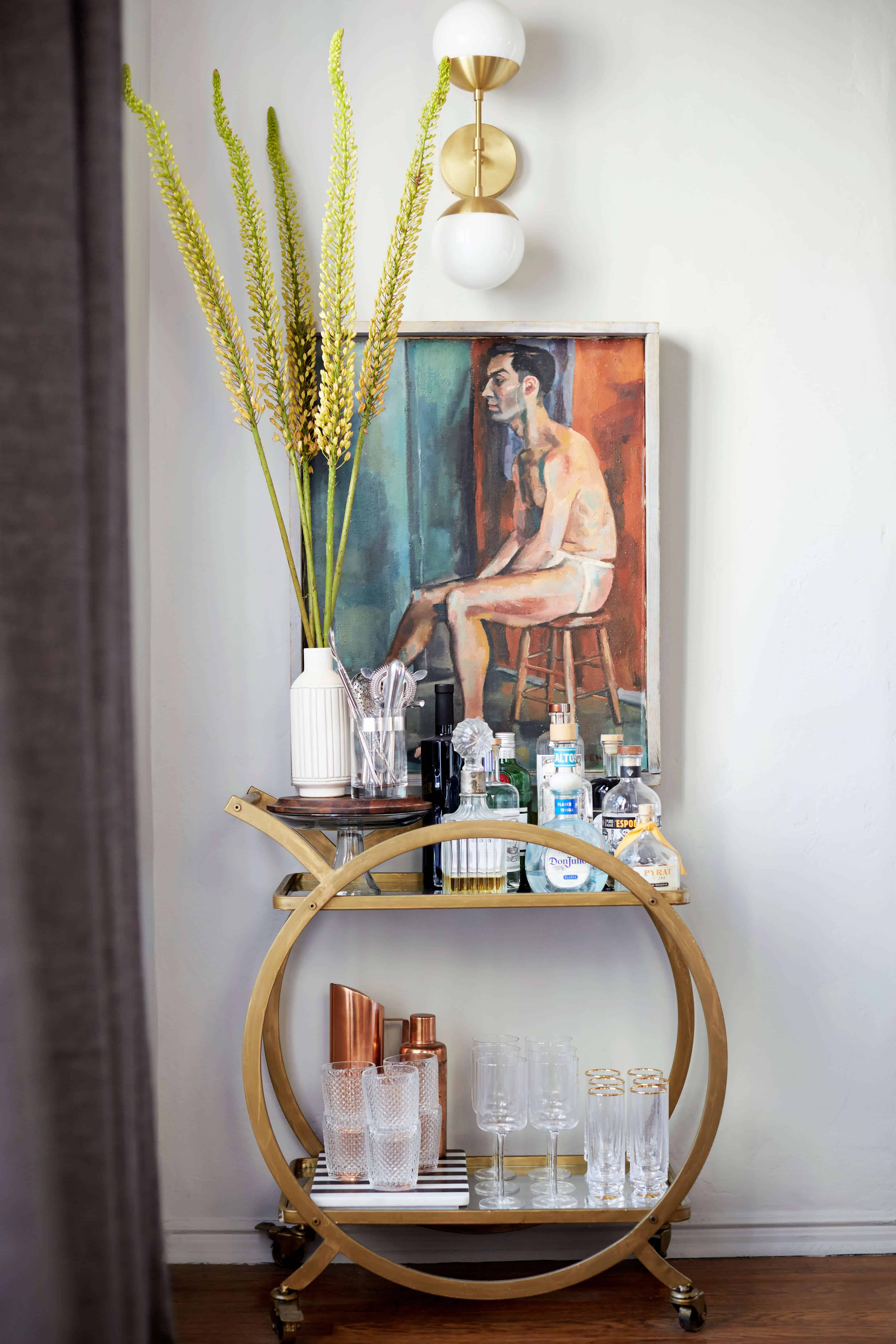 brady-tolbert-design_emily-henderson_living-room_eclectic_pavillion-grey_farrow-and-ball_brass-coffee-table_english-roll-arm_albini_masculine_traditional_west-elm_souk_flokati_leather_22