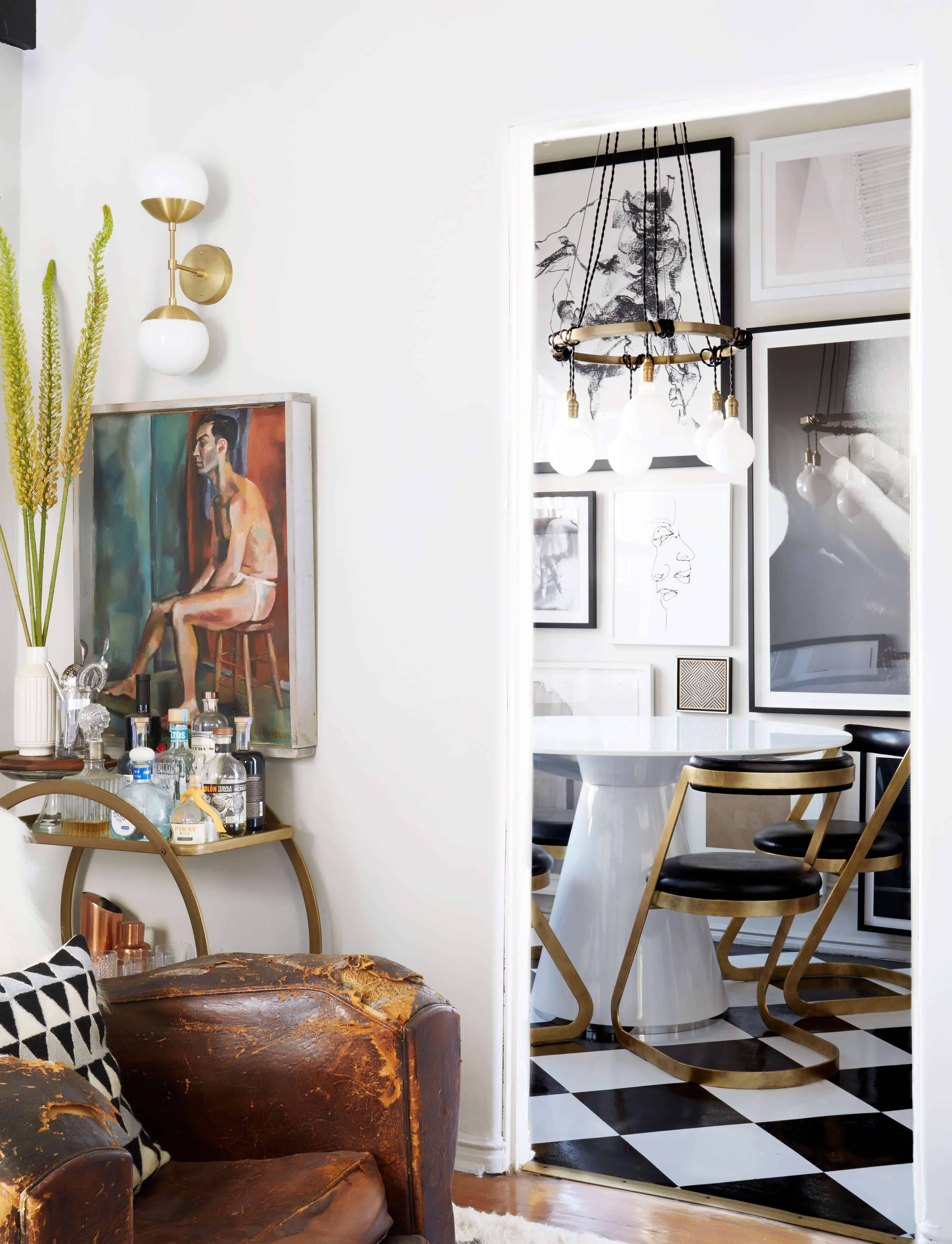 brady-tolbert-design_emily-henderson_living-room_eclectic_pavillion-grey_farrow-and-ball_brass-coffee-table_english-roll-arm_albini_masculine_traditional_west-elm_souk_flokati_leather_6