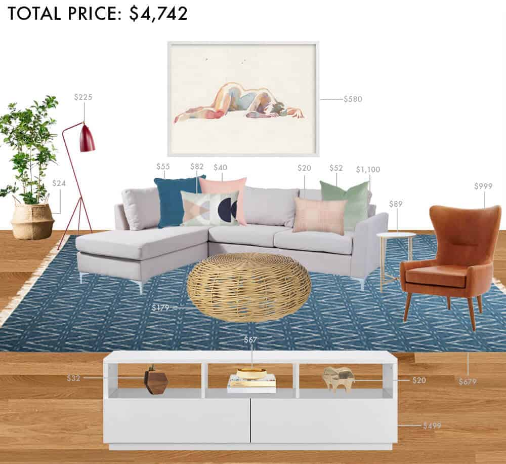 Colorful Living Room Style: Budget Rooms: Colorful Living Room With Sectional