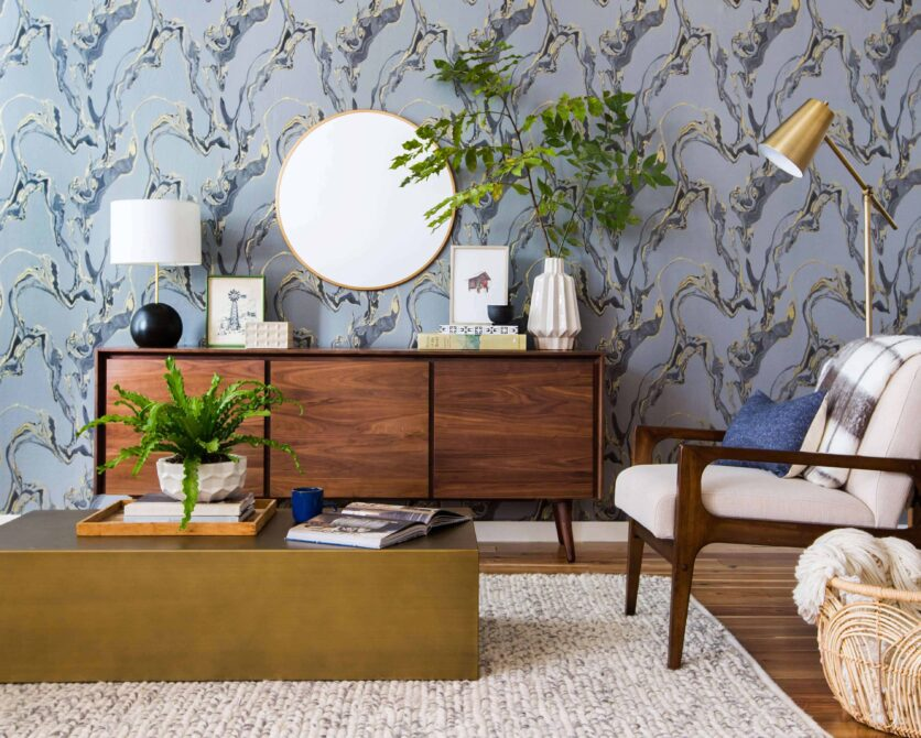 emily-henderson_tempaper_marbled_midcentury_eclectic_living-room_target_wood_edited1