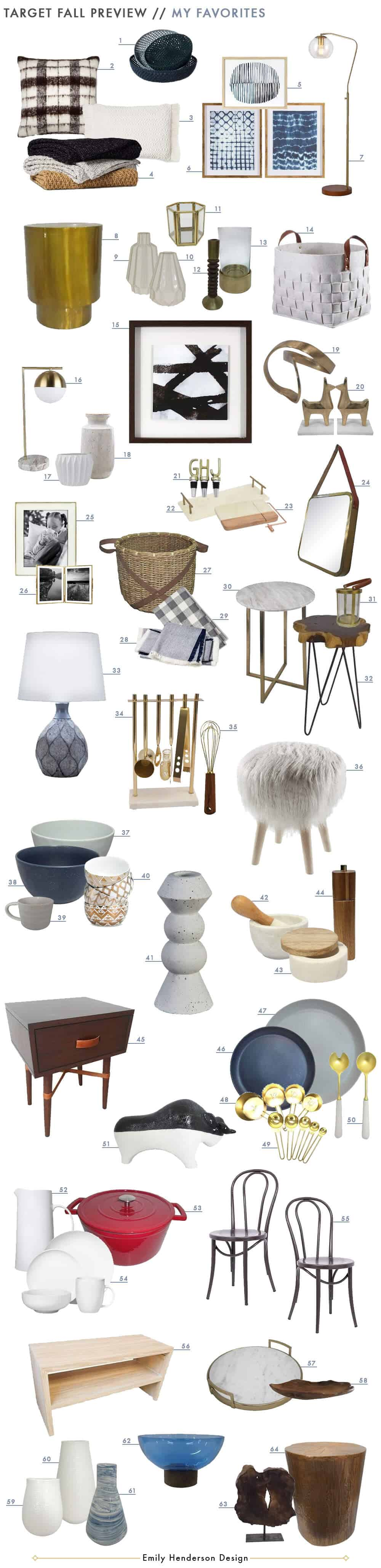The new target fall style collection emily henderson Target fall home decor