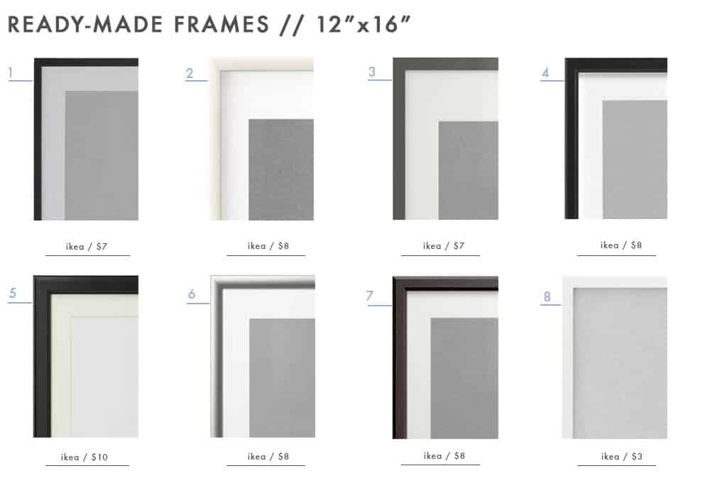 gallery-frames-ready-made-picture-photo-frames-emily-henderson-design-roundup-12x16