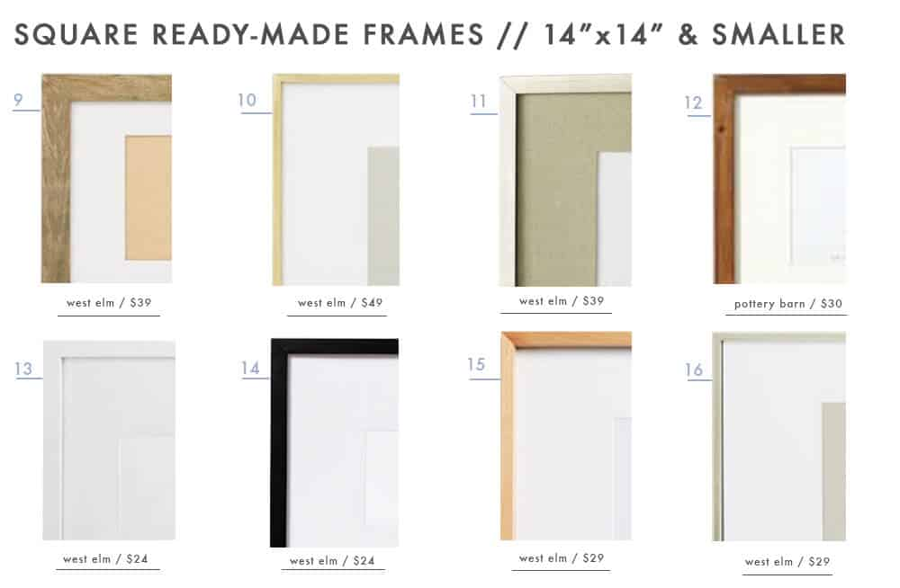 gallery-frames-ready-made-picture-photo-frames-emily-henderson-design-roundup-14x14-and-under