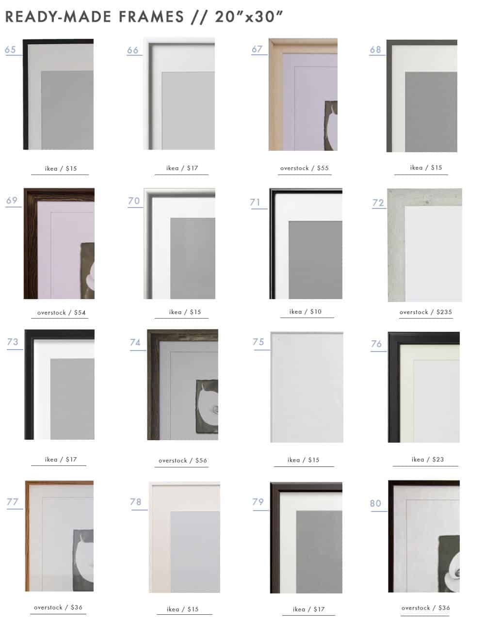 gallery-frames-ready-made-picture-photo-frames-emily-henderson-design-roundup-20x30