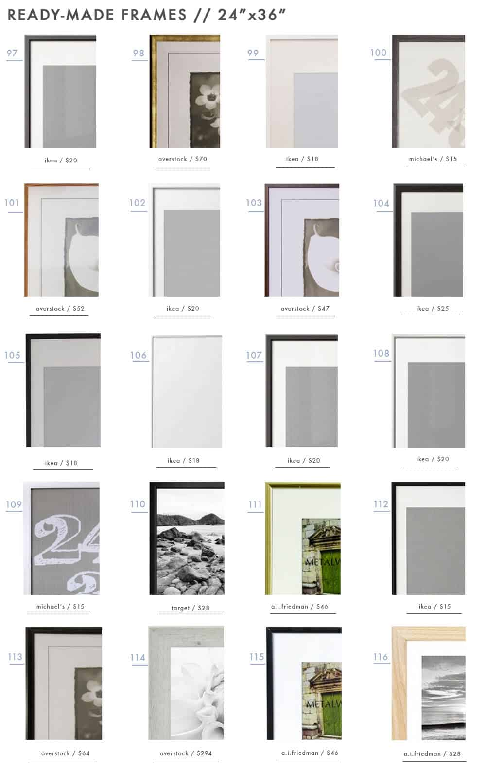 gallery-frames-ready-made-picture-photo-frames-emily-henderson-design-roundup-24x36
