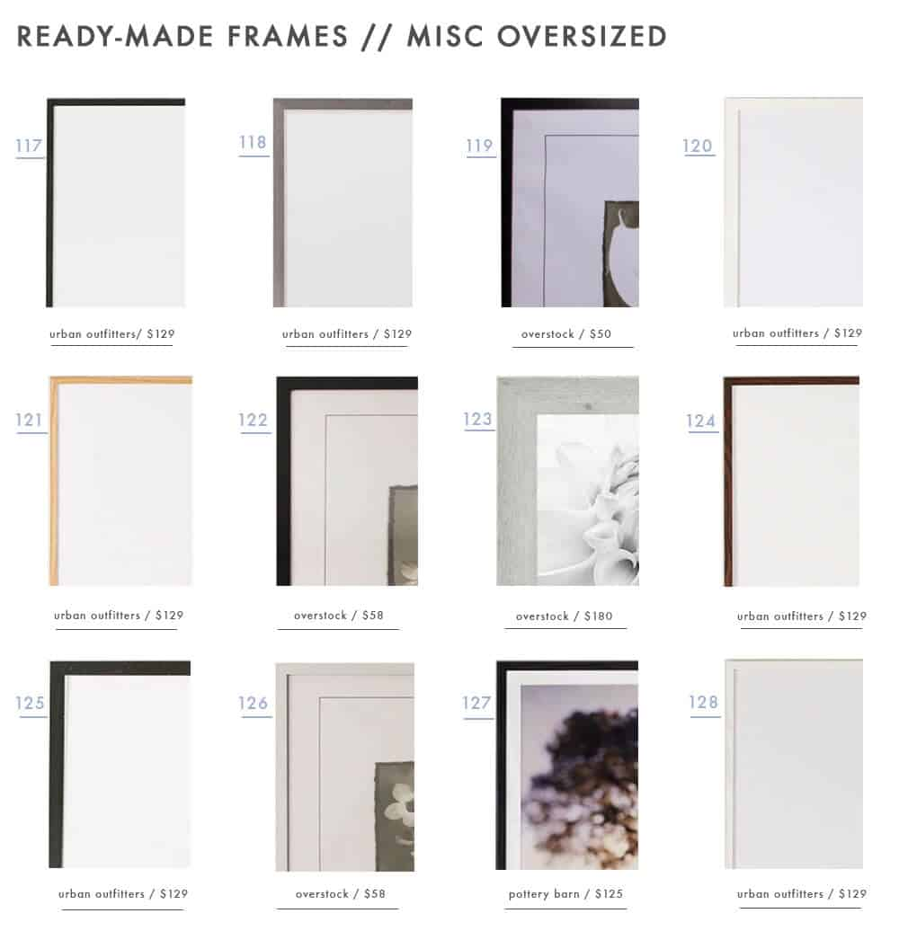 gallery-frames-ready-made-picture-photo-frames-emily-henderson-design-roundup-misc-oversized