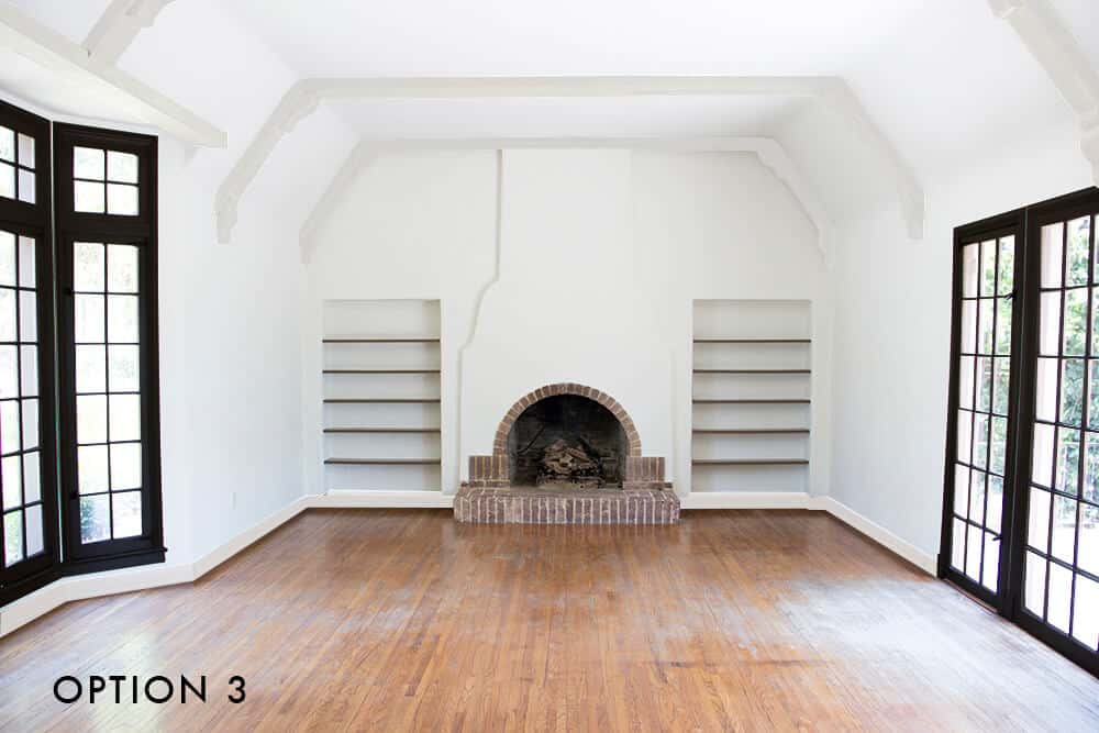 option-3-emily-henderson_house_living-room_painting_trimwork_white-walls-white-baseboards-black-trim-and-white-beams