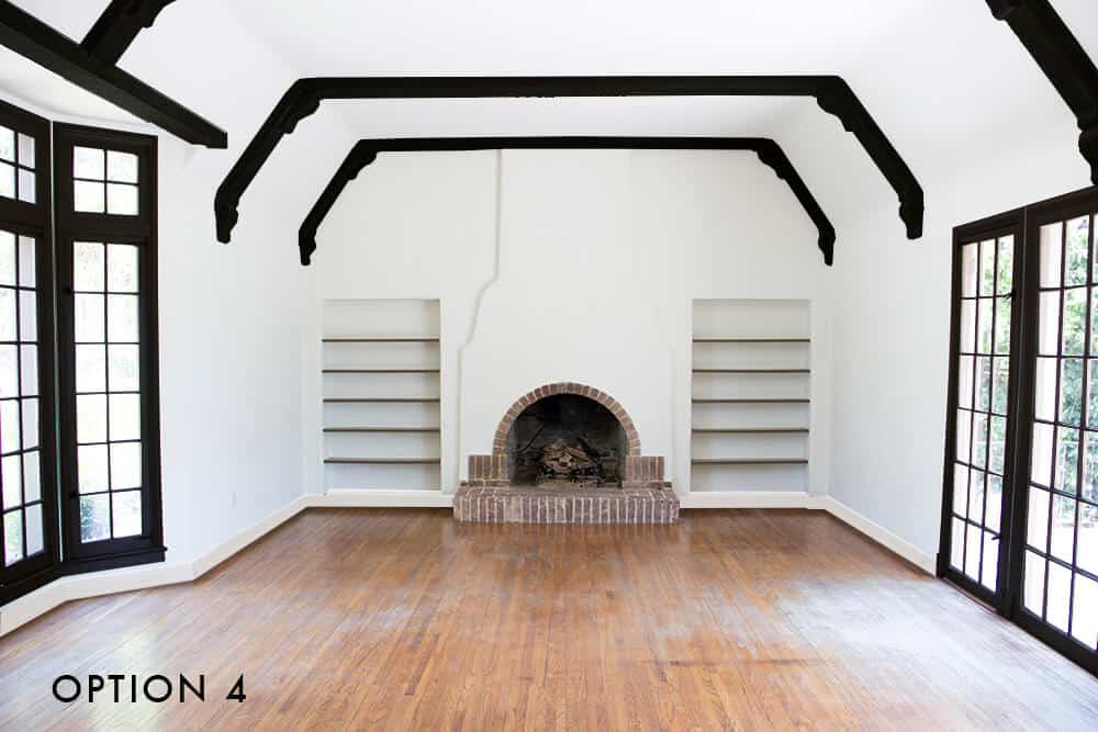 option-4-emily-henderson_house_living-room_painting_trimwork_white-walls-white-baseboards-black-trim-and-black-beams