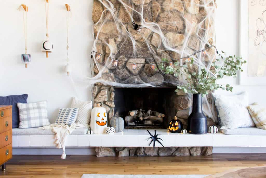 emily-henderson_fall-decorating_halloween_target_living-room_autumn_pumpkin_spider-web_decor_easy_affordable_1