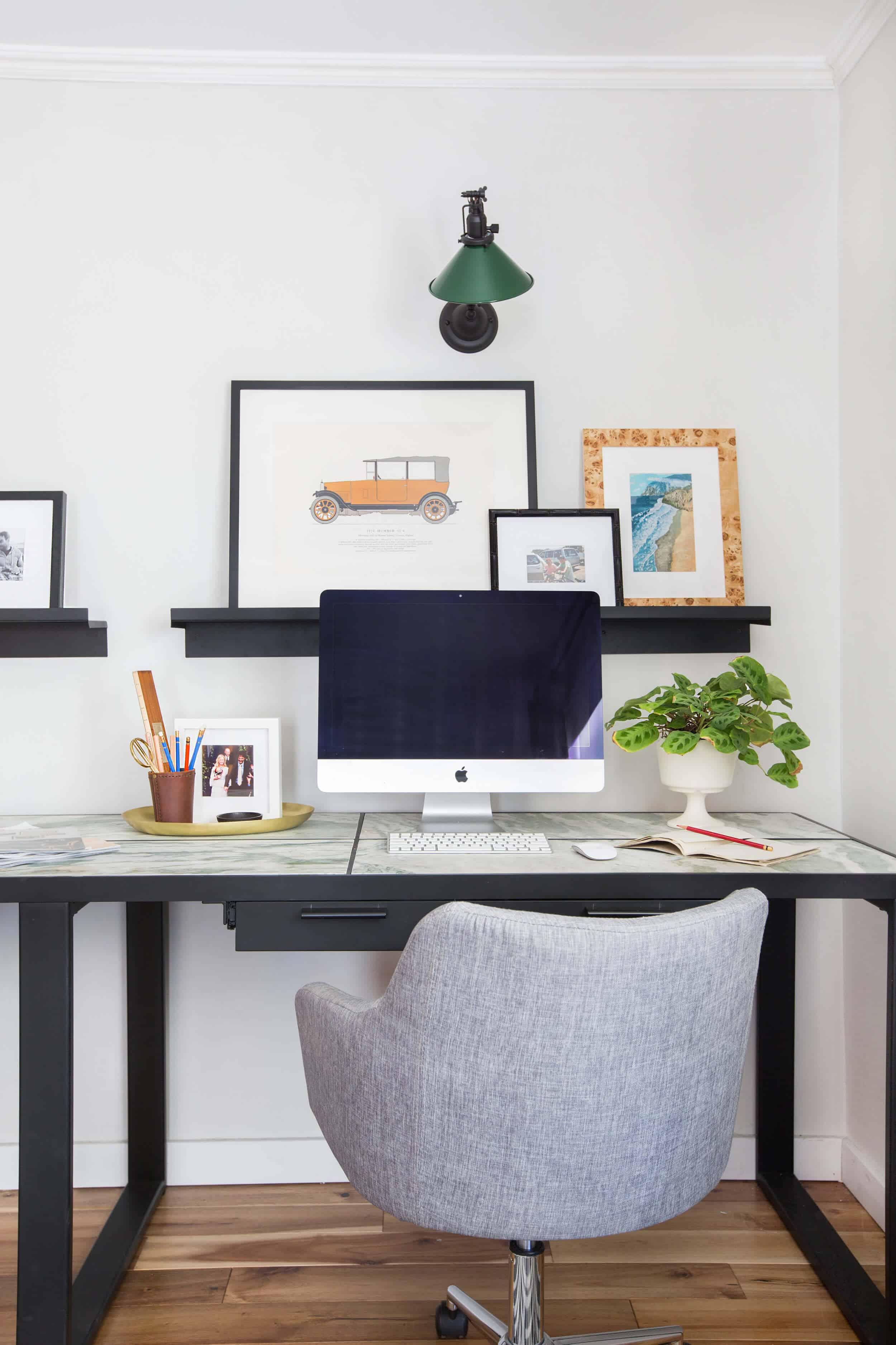 emily-henderson_framebridge_art-ledge_brians-office_masculine-office_guy_green_plaid-rug_workspace_modern_eclectic_7