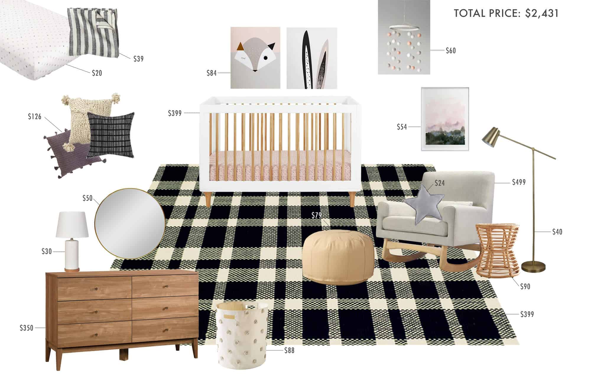 gender-neutral-nursery_plaid_masculine_feminine_modern_graphic_black_white_cream_wood_simple_modern_2500k