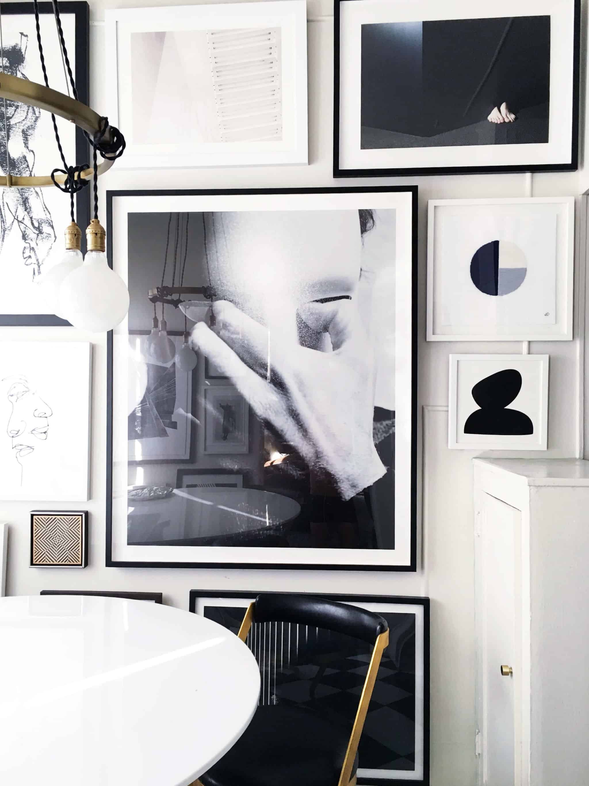brady-tolbert_dining-room_gallery-wall_jane-denton_black-and-white_2