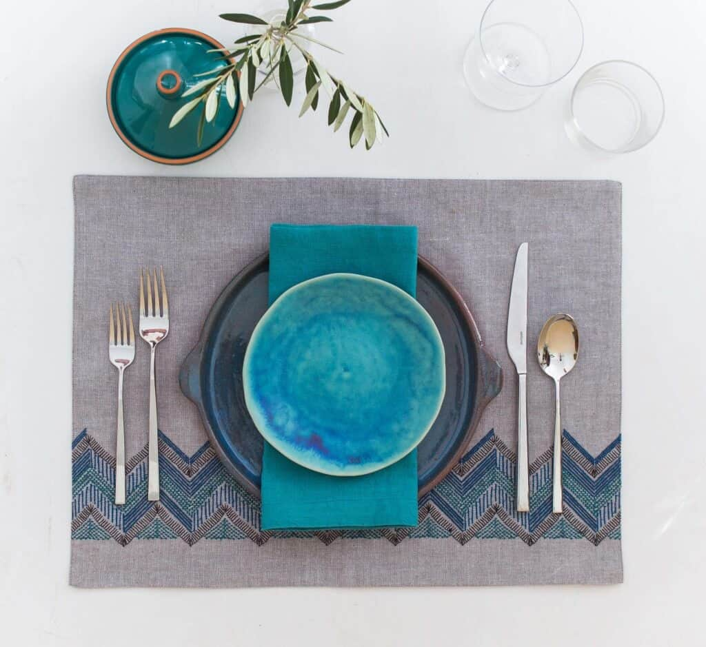 emily-henderson_green-and-blacks_chocolate_colorful_table-setting_4
