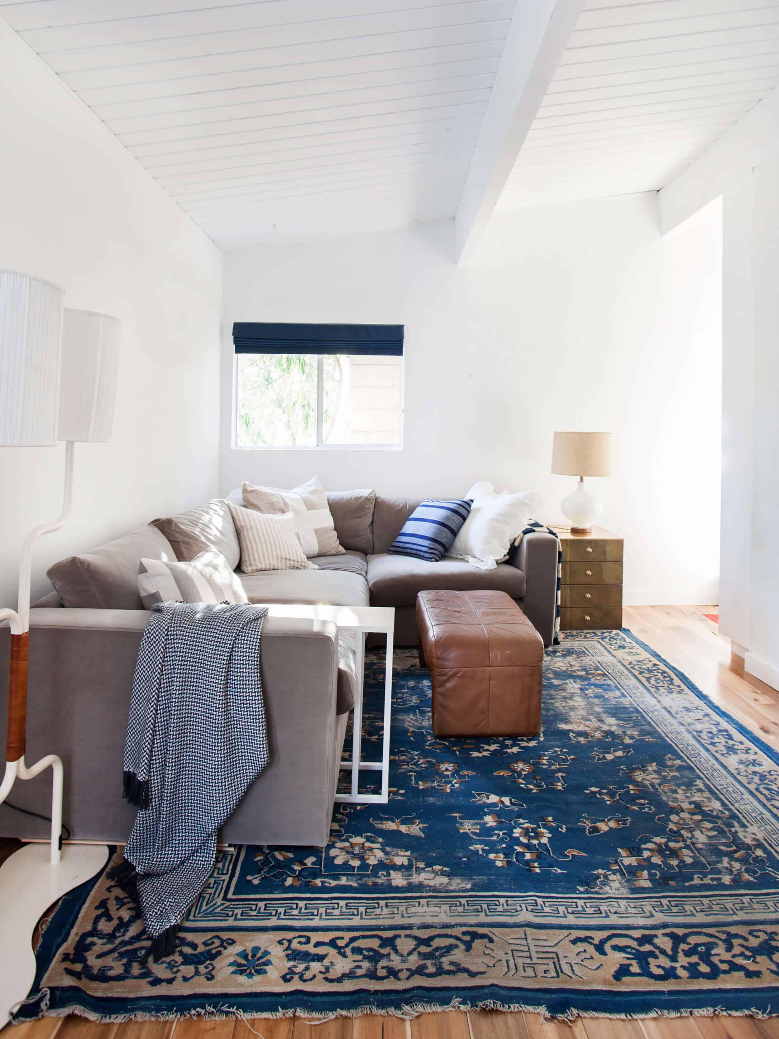 Emily Henderson_Family Room_Gray_Blue_Emily Henderson