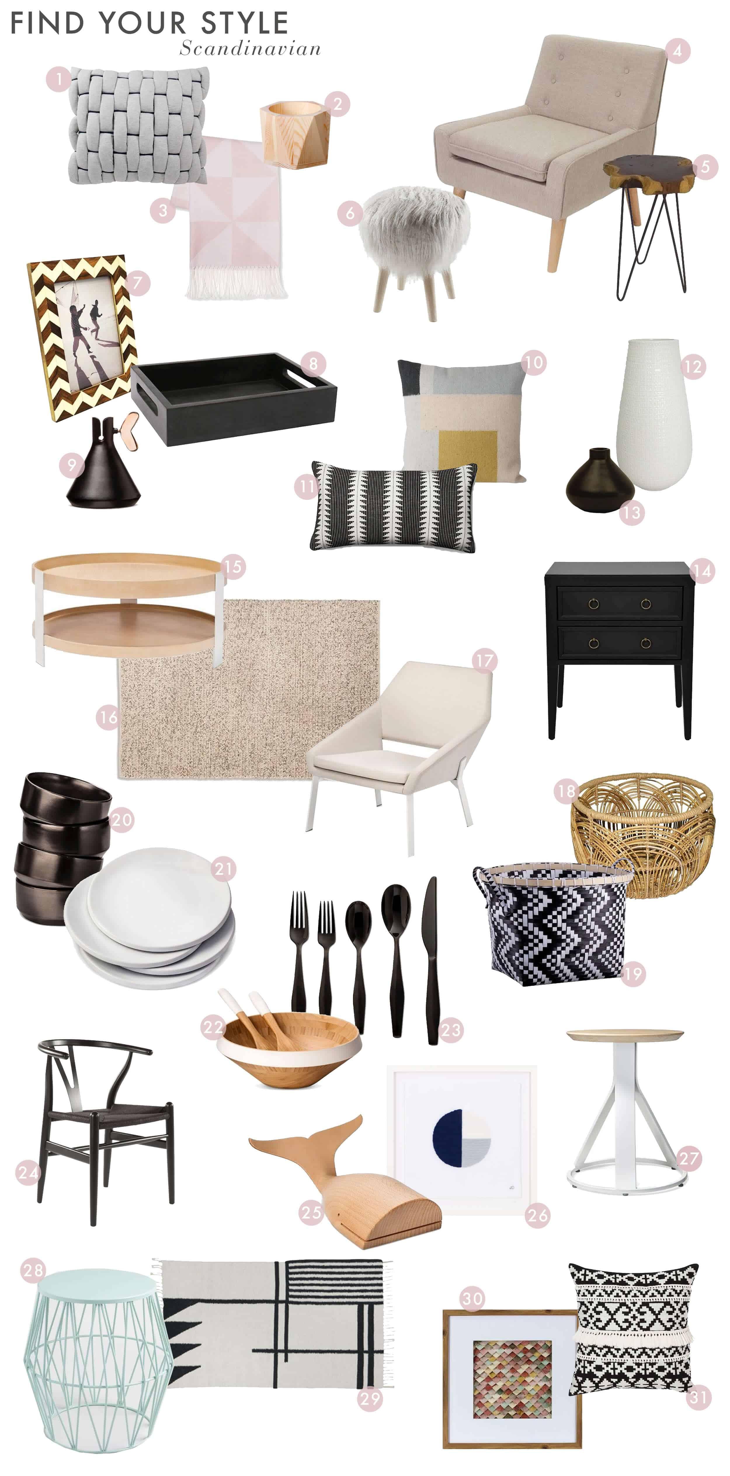 Emily Henderson_Find Your Style_Style Quiz_Vignettes_Minimal_Sleek_White_Modern_Roundup_Scandinavian