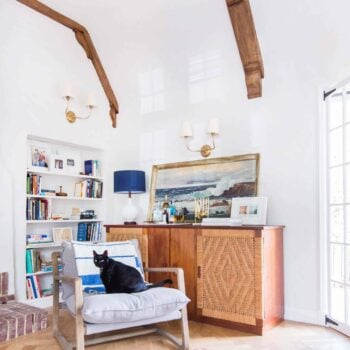 Emily Henderson_Home_Livingroom Design_Wood Naturally_Refinished Beams_9