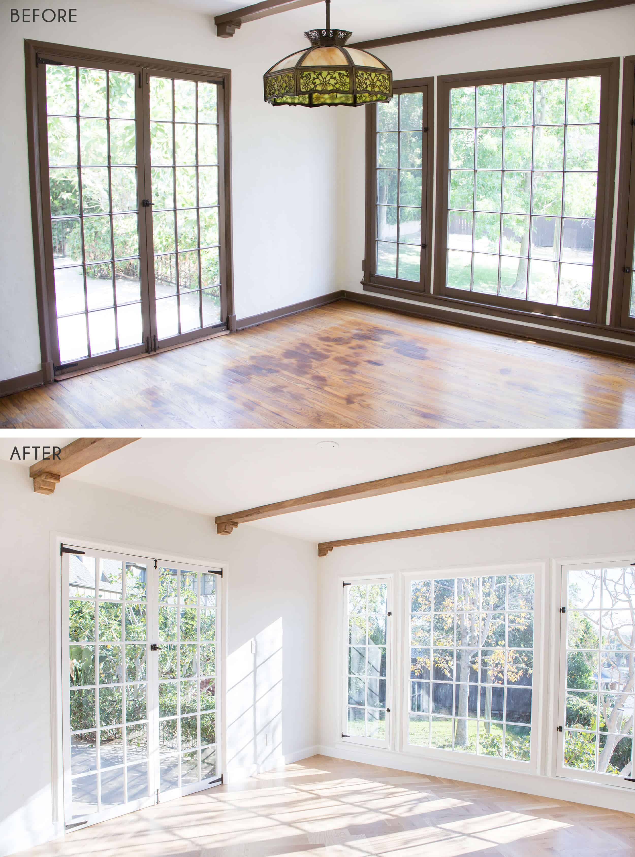 Emily Henderson_Home_Wood Flooring_BEFORE_AFTER_Dining Room_Side by Side