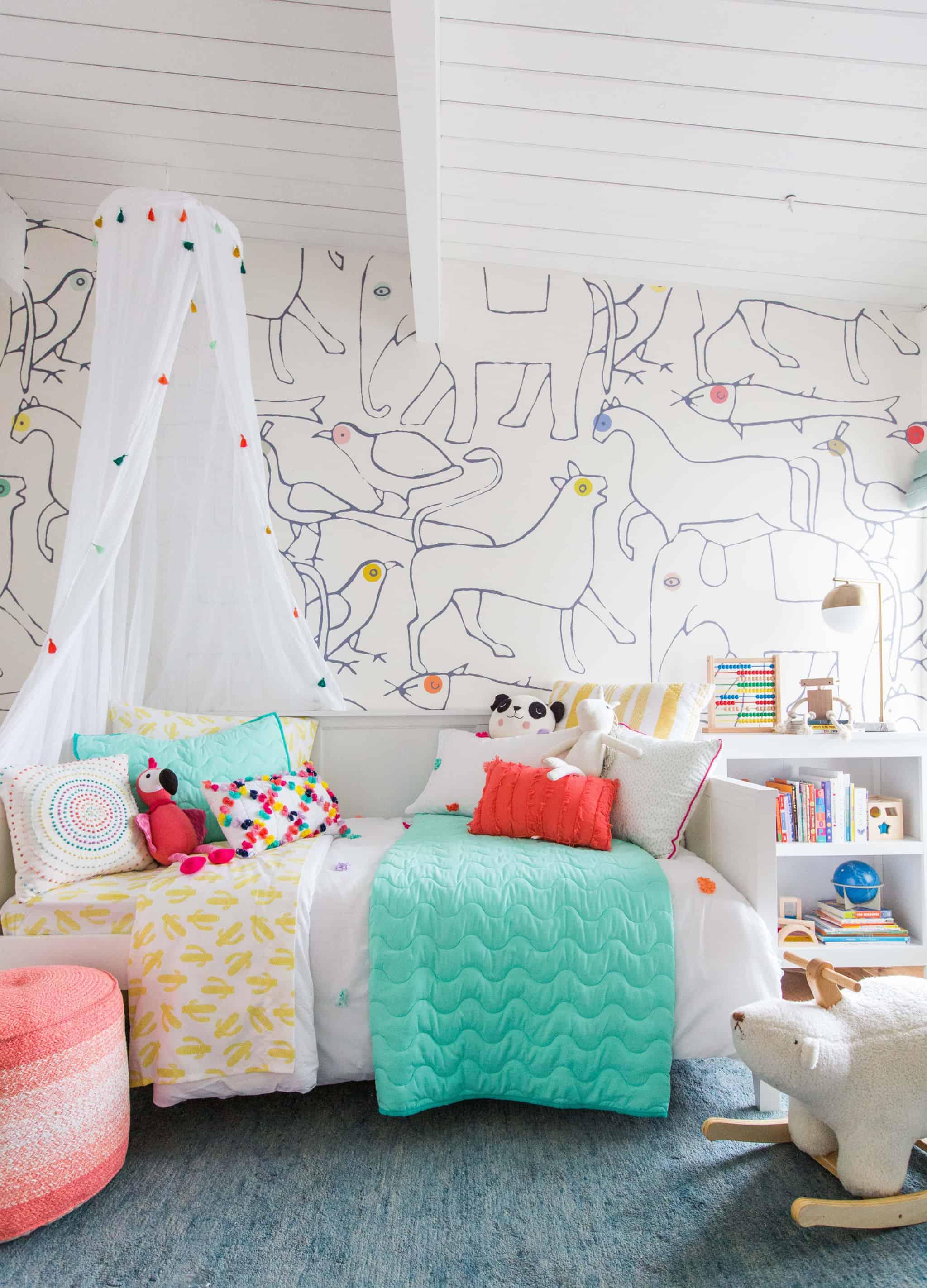 emily-henderson_kids-room_target_bedding_layered_light_texture_blue_white_brass_nursery_girls-room_bright_18