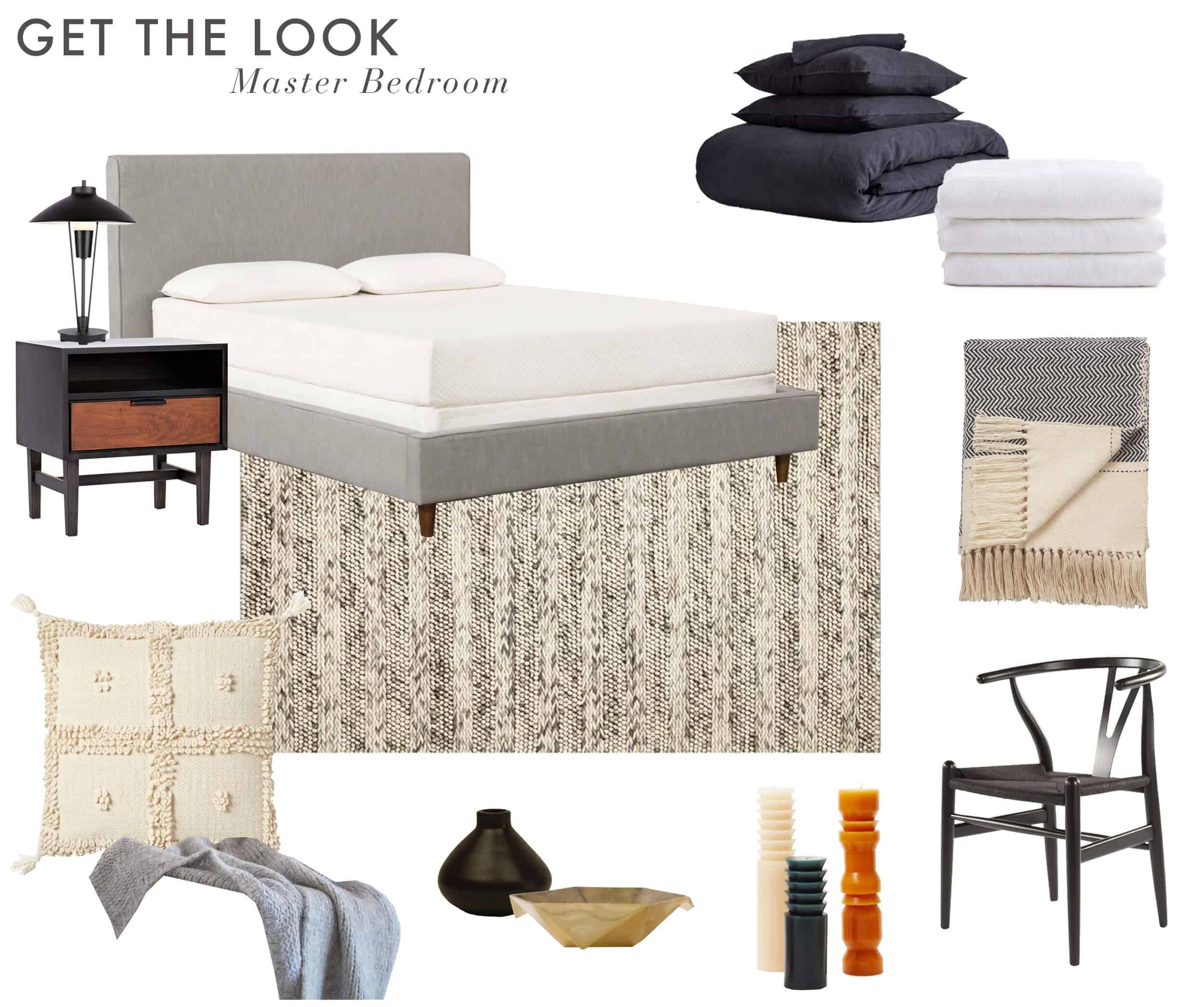 Emily Henderson_Parachute_Bedding_Scott Horne_Bedroom_Masculine_Monochromatic_Neutral_Soft_For Sale_Get the Look