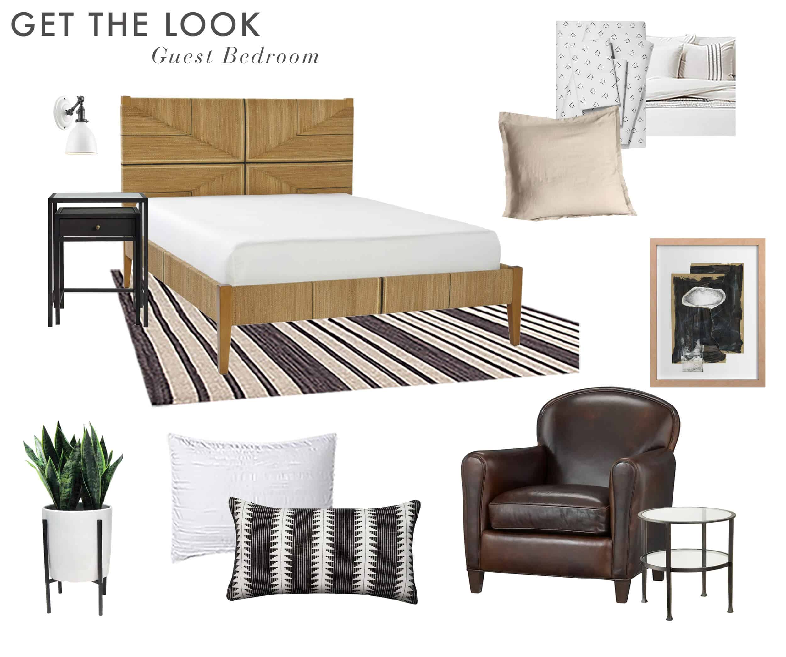 Emily Henderson_Scott Horne_Guest Bedroom_Masculine_Monochromatic_Neutral_Soft_For Sale_Get the Look_2