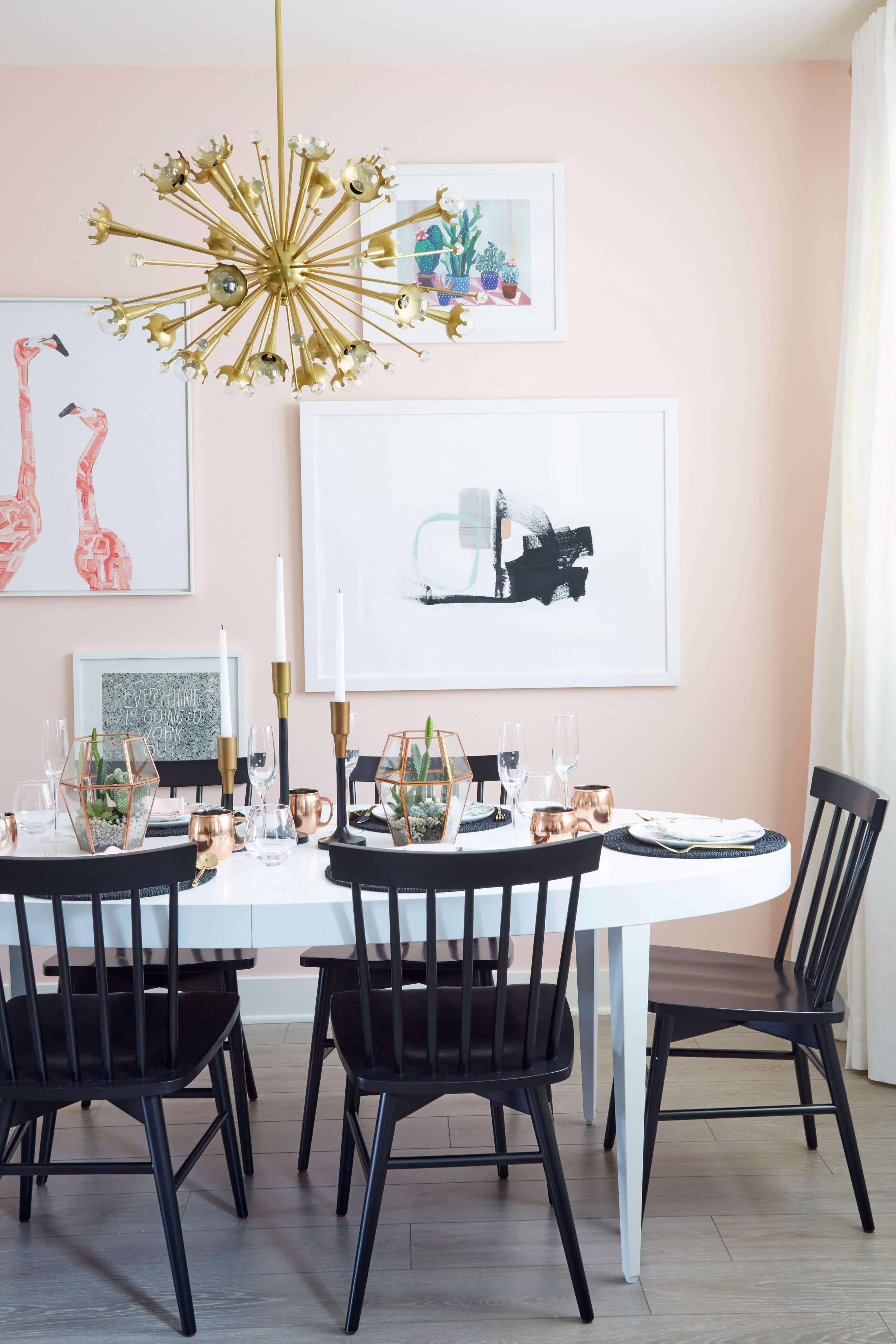 Nicolette Mason_Dining Room_Glam_Pink_Lux_Emily Henderson_Dining Room
