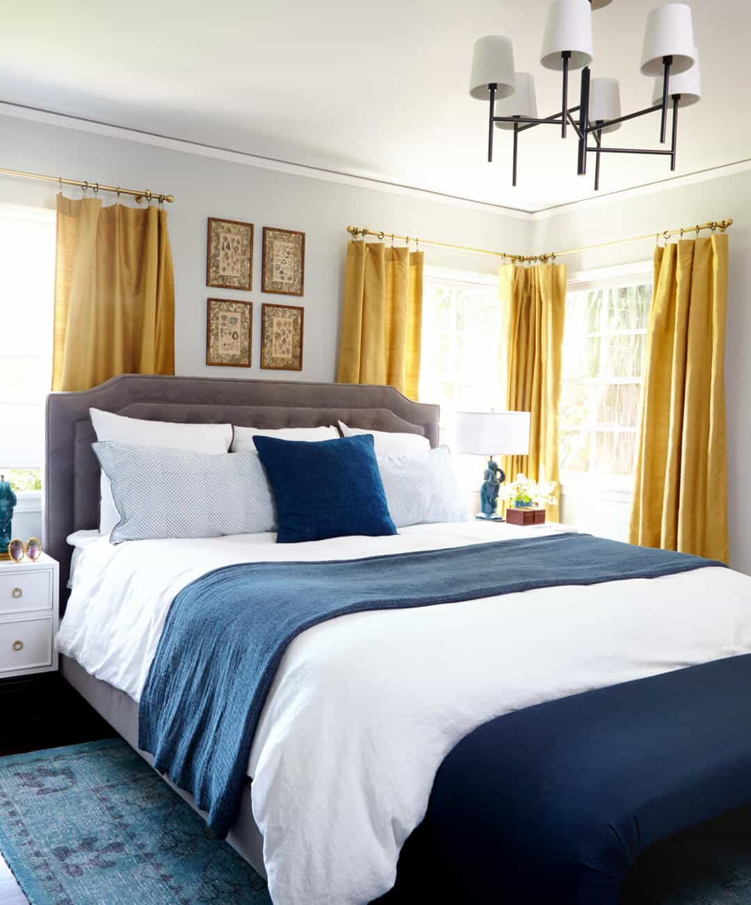 The Lorey's Bedroom_Blue_Yellow_White_Glam_Lux